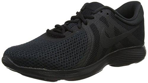 Nike Nike Revolution 4 Eu, Herren Laufschuhe, Schwarz (Black/Black 002), 42 EU (7.5 UK)
