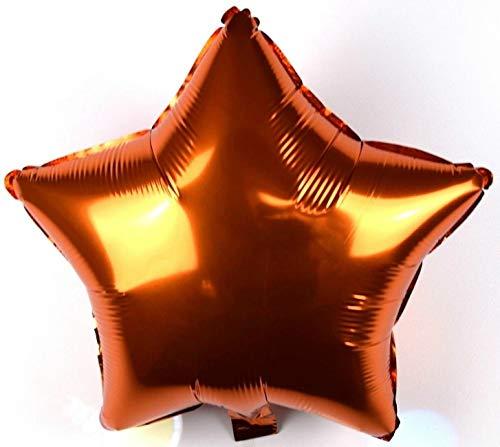 5 Stück Helium Folienballons XL Stern Bronze Kupfer Metallic Feier Party Deko