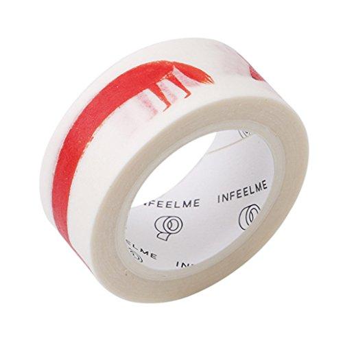 Chinget Washi Tape Dekoband Masking Tape Klebeband Kleber Aufkleber DIY Craft Dekorative Scrapbooking Geschenkpapier Breite 15mm (Stil 2 - Fuchs)