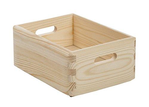 ASTIGARRAGA Boite de rangement en bois Pin massif - 20 X 15 X 9 cm