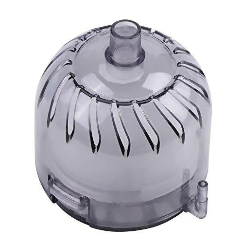 Hffheer Aquarium Pneumatischer Filter Aquarium Biochemischer Schwammfilter Luftpumpe Angetriebener Aktivkohlefilter Mini Multi Layer Filter(grau)