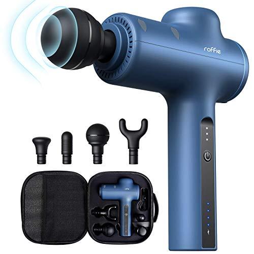 Massagegerät, Roffie Massage Gun Massagepistole Massagegerät Elektrisch Massagepistole Muskel Massagegerät für den Nacken Schulter Rücken, USB-C Kabel, Blau