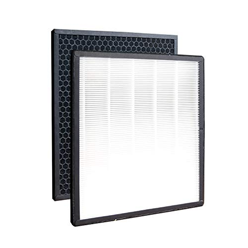 Replacement Air Purifier Filters Fit for Levoit LV-PUR131 LV-PUR131-RF HEPA Filter, Ture HEPA & Activated Carbon Pre-Filter(1 Set)