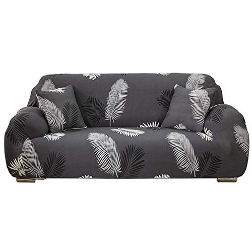 Funda para sofá Elasticas de 1 2 3 4 Plazas Impresión Floral (Gratis 2 Funda de Cojines) Universal Funda Cubre Sofas Ajustables,Antideslizante Protector Cubierta de Muebles con Cuerda de fijación