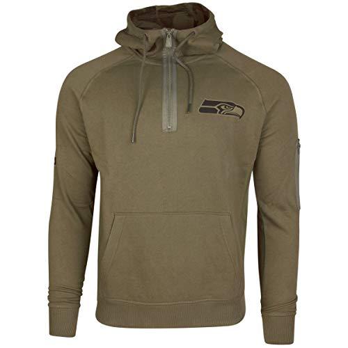 New Era Camo Collection Herren Sweater Seattle Seahawks Khaki, XXL, Olive