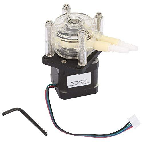 RWLLW Bomba peristáltica de vacío, bomba de vacío peristáltica de alto flujo resistente a la corrosión con motor paso a paso 6 ~ 30 V para líquidos químicos de acuario