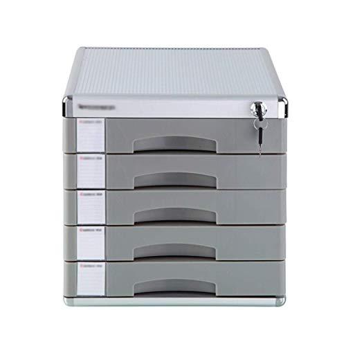 LHQ-HQ Desktop-Fach Sorter 5-Schicht-Aluminiumlegierung-Fach-Art Verschluss Speicher Data Office Rack-310 * 370 * 313mm Zeitungsständer