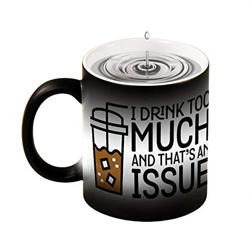 Magic mok warmte gevoelig ik drinken te veel - grappige iced koffie parodie grappige kleur veranderen koffie mok Cup 11 oz