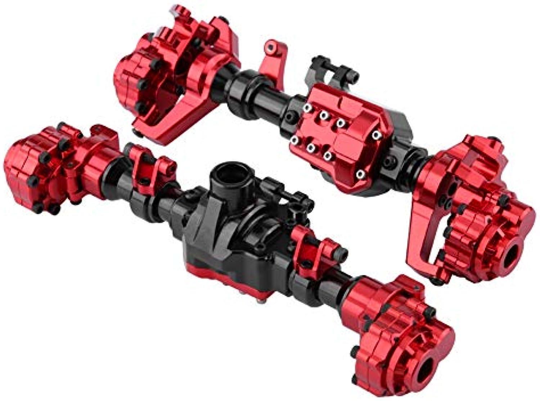 Dilwe RC Vordere Hintere Portalachsen, Metall Vordere Hinterachsen Modellbau Zubehr für Traxxas TRX-4 1 10 Scale RC Crawler