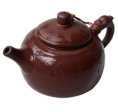 Teekanne mit Drachengriff aus chinesischem Yixing-Ton, 300 ml