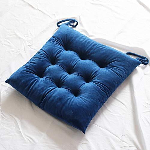 JKCTOPHOME Cojines de Asiento,Cojín de Silla de Comedor Engrosado de Color sólido Simple para el hogar de otoño e Invierno-F_45X45cm,Almohadillas para sillas