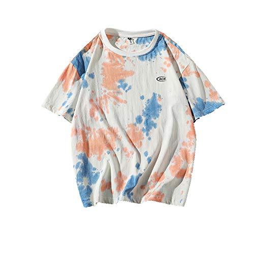 NOBRAND Popular Tie Dye Camiseta corta en verano