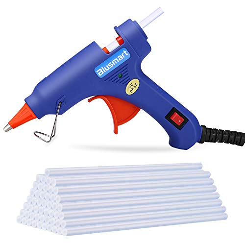 Hot Glue Gun,Blusmart Upgraded Version Glue Gun with 30pcs Glue Sticks, 20W Mini Hot Glue Gun Blue Fast Heating for DIY Craft Projects and Home Quick Repairs