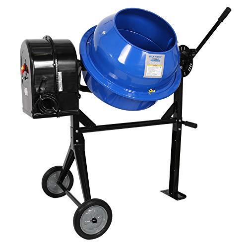 BILT HARD Cement Mixer, 3-1/2 Cubic Ft. Portable Electric Concrete Mixer for Handles Stucco, Mortar, Blue