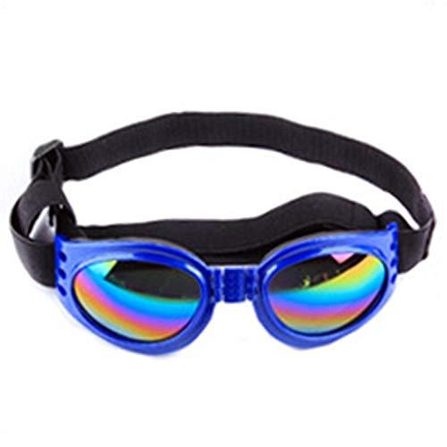 MUzoo Beste Verkaufstierbrille 6 Farbe Faltbar Kleine Medium Große Hund UV-Schutz Sonnenbrille Hund Katze Zubehör Pet Supplies (Color : Blau)