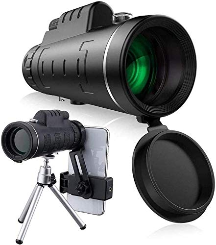 LNHJZ Telescopio monocular 12x50 Prisma BAK4 de Alta Potencia Recubrimiento FMC Adaptador de Montaje en trípode para Smartphone observación de Aves Conciertos de Senderismo