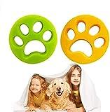 ZHWUEU Bola De Limpieza De Ropa, 2 Piezas Lavandería Mascota Removedor Universal Flotador Filtro Bolsa de Lavandería Bola Flotante Pet Fur Catcher para Mascotas (Limpieza De Ropa)