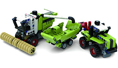 Technik Bausteine Traktor mit Anhänger + Technic Mähdrescher, Landmaschinen Set, 448 Klemmbausteine