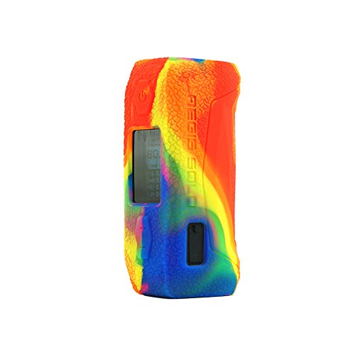 KKmod Silicone Texture Case for GeekVape Aegis Solo 100W, Anti-Slip Protective Rubber Sleeve Cover Shield Wrap (Rainbow)