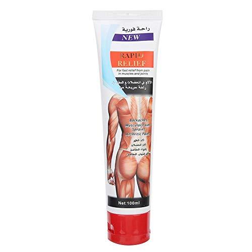 Crema para aliviar el dolor a base de hierbas, alivio del dolor Cuello Hombro Cintura Pierna Dolor Crema para el cuidado de la salud(50 gramos)