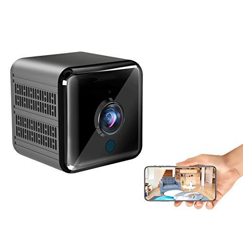 Mini Kamera , 1080P FHD Mini Überwachungskamera WLAN Super Infrarot Nachtsichtkamera für Innen Sicherheitskamera mit Bewegungserkennung und Magnet Lange Batterielaufzeit Minikamera