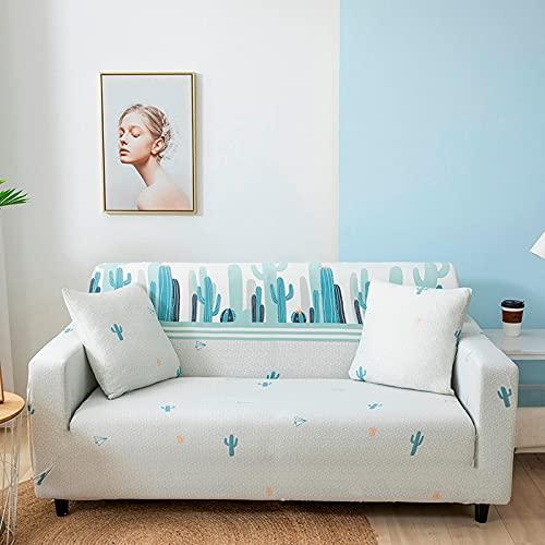 ASCV Funda de sofá de Spandex con Estampado de Girasol Antipolvo Funda de sofá elástica Sillón de Dos plazas Sillón seccional en Forma de L Funda de sofá de Esquina A7 4 plazas