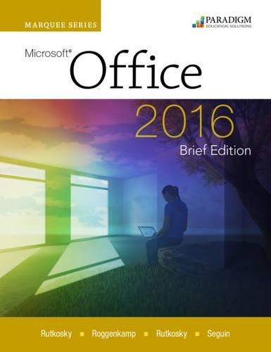 Price comparison product image Marquee Series: Microsoft (R)Office 2016-Brief Edition: Text with physical eBook code