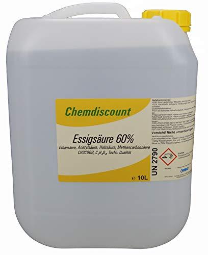 10l (ca. 10,65 kg) Essigsäure 60%, versandkostenfrei