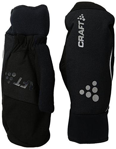 Craft Sportswear Unisex Touring Insulated Bike Cycling & Training Mittens: protective/riding/cooling, Black, Medium