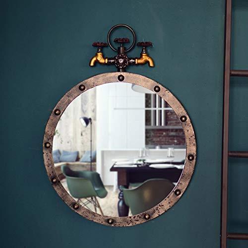 Spiegel Wanddecoratie, Kunstmatige Plant Loft Industriële Stijl Retro Ijzer Kraan Creative Cafe Bar Wandmontage,1