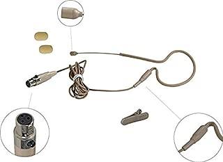 Single Ear-Hanging Headworn Omni-Directional Microphone (for AKG type 3 pin mini plug)