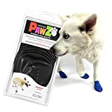 Pawz Dog Boots | Dog Paw Protection with Dog Rubber Booties | Dog Booties for Winter, Rain and Pavement Heat | Waterproof Dog Shoes for Clean Paws | Paw Friction for Dogs | Dog Shoes (M)