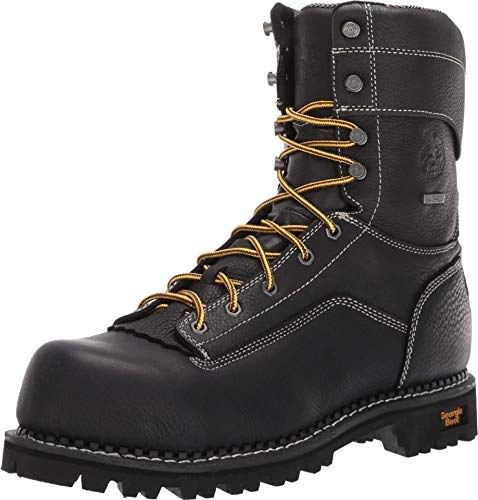Georgia Boot AMP LT Logger Composite Toe Waterproof Work Boot Size 10(W) Black