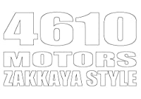 4610 MOTORS ZAKKAYASTYLE WHT カッティングステッカー白文字 シロウトモータース雑貨屋スタイル