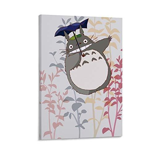 DRAGON VINES Póster decorativo con diseño de paraguas de My Neighbor Totoro con texto en inglés 'My Neighbor Totoro' (30 x 45 cm)
