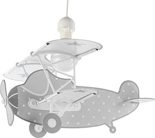 Dalber Lámpara Infantil de techo Stars Plane Avión, Gris