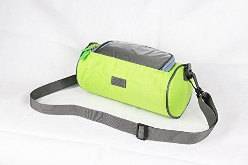 Fahrrad Lenkertasche Fahrradtasche Rahmentasche Handyhalterung Navigationshalterung Wasserdich Sensitive Touch-Screen (Grün)