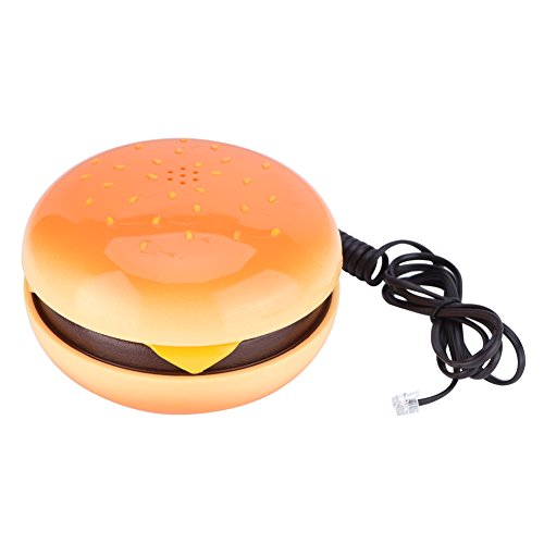 Tangxi Novelty Emulational Hamburger Cheeseburger Burger Phone Telephone Wire Landline Phone Home Decoration