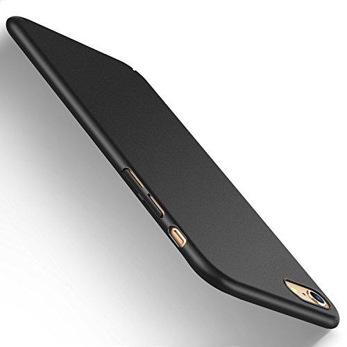 Humixx iPhone 6s Plus Hülle, iPhone 6 Plus Hülle,Anti-Fingerabdruck, Anti-Scratch FeinMatt FederLeicht Hülle Tasche Schale Hardcase für iPhone 6/6s Plus (Schwarz) [Skin Series]
