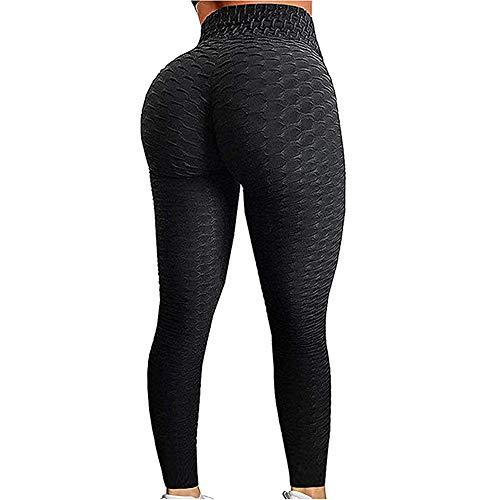 EXGOX Pantalones de yoga de cintura alta para mujer Estiramiento Correr Entrenamiento Leggings de yoga Control de abdomen Medias deportivas