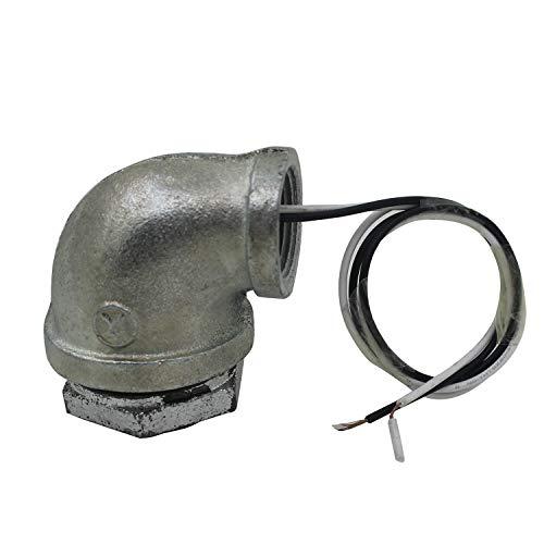 Portalamparas industrial para steampunk lampara tuberia vintage retro 1/2 3/4 1 1-1/4 1-1/2 pulgada (2 vias 90 grado, 1-1/4 pulgada)