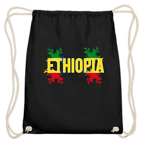 Ethiopia - Äthiopien Afrika Flagge Fahne National Motiv - Schlichtes Und Witziges Design - Baumwoll Gymsac