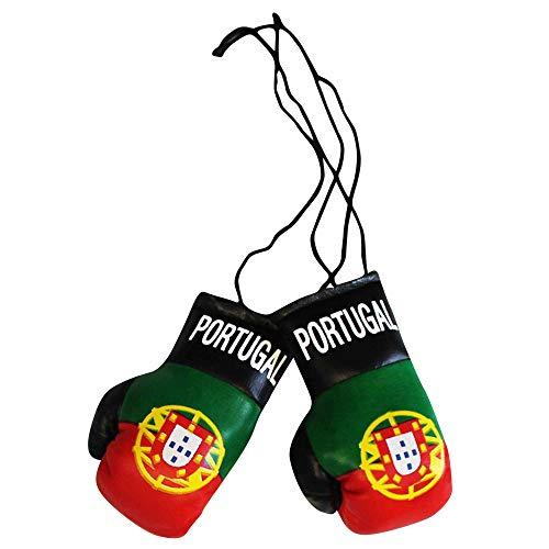 Portugal Mini Boxhandschuhe für Auto oder Zuhause Flagge