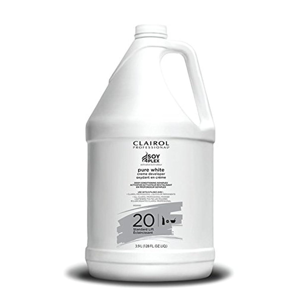 敏感なブランド受け継ぐClairol Professional Soy4plex Pure White Creme Hair Color Developer, 20 Volume