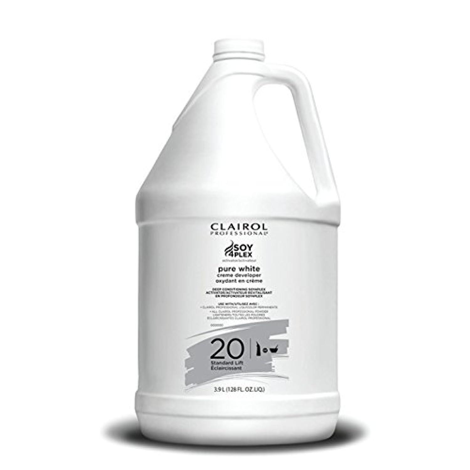 歴史家黙暖炉Clairol Professional Soy4plex Pure White Creme Hair Color Developer, 20 Volume
