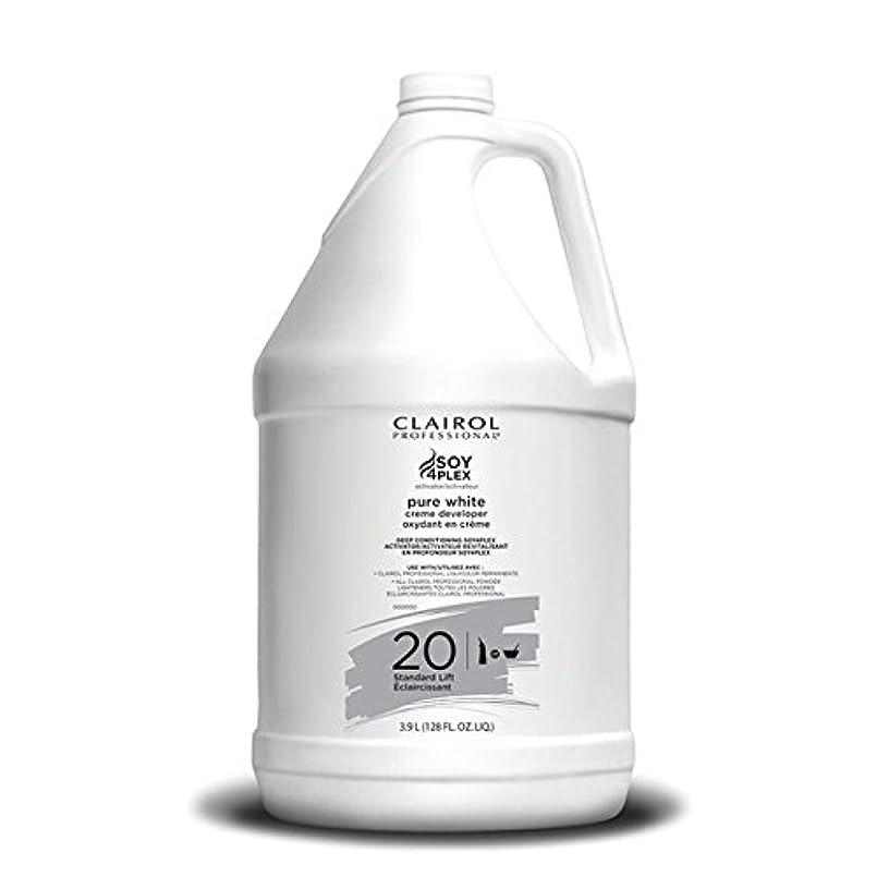 仕方酸絡まるClairol Professional Soy4plex Pure White Creme Hair Color Developer, 20 Volume