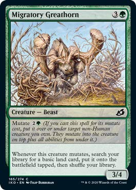 Magic: The Gathering - Migratory Greathorn - Foil - Showcase - Ikoria: Lair of Behemoths