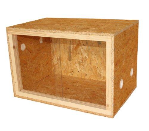Dehner Terrarium Classic, reptielen- en amfibia-accessoires, ca. 60 x 40 x 40 cm, hout.
