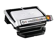 First electric indoor grill that cooks by adapting its grilling cycles to the thickness of the foods 6 automatic cooking programs for Burger, Poultry, Sandwich, Sausage, Red Meat and Fish; Cooking surface: 600 square centimeter Easy monitoring of the...