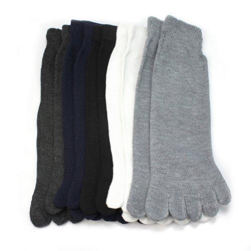 Pinzhi 5 pairs chaussettes bas socquettes 5 orteils doigts en coton mixte confortable